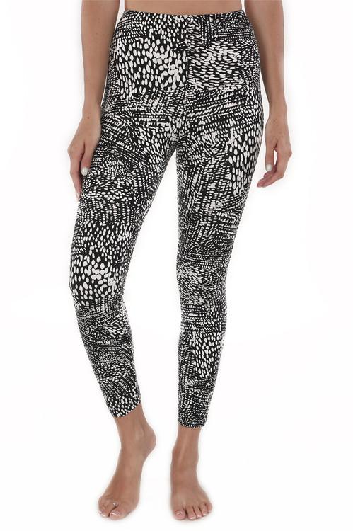 Mindi Zip Crop Legging Ikat print legging