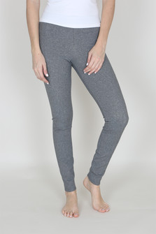 Taylor Seamed Full-Length Legging image shows heater grey tweed basic legging