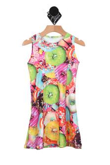 Donut Sleeveless Skater Dress (Big Girl)