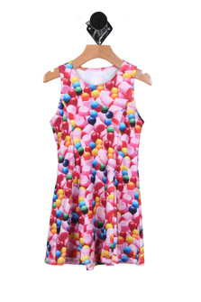 Gumball Sleeveless Skater Dress (Little Girl)