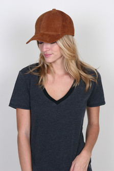Genuine Suede Baseball Cap
