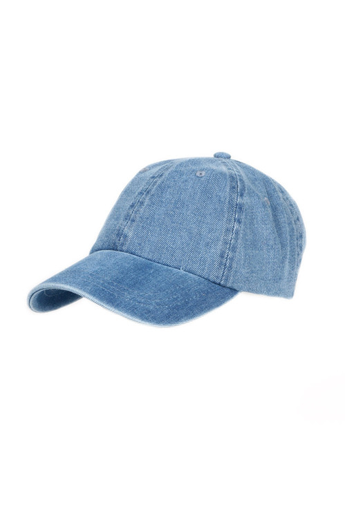 Garment Washed Lt Denim Baseball Cap For more details contact toll free 855-597-0313