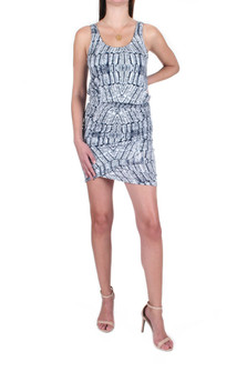 Jan Wrap Detail Printed Mini Dress