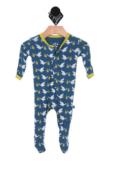 Twilight Stork Printed Footie (Infant Boy)