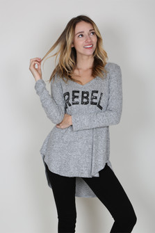 Rebel Brushed Knit Sweater