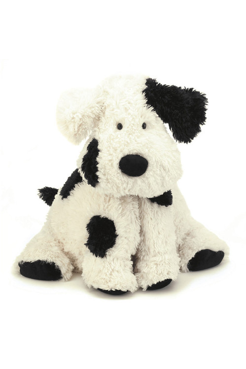 Medium Bashful Stuffed Animal black & cream puppy For more details contact toll free 855-597-0313