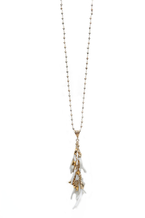 Gold Vermeil Pyrite Necklace