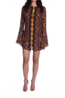 Ossie Vibes Bell Sleeve Tunic/Mini Dress
