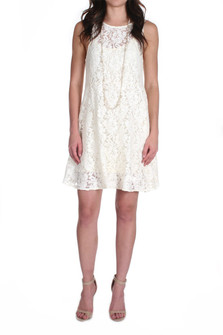 Forever And Ever Sleeveless Floral Lace Mini Dress