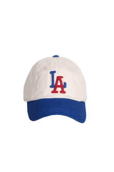 New Timer Los Angeles Dodgers Contrast Color Baseball Hat Blue Rim, White hat with L in Blue and A in Red For more detail contact toll free 855-597-0313