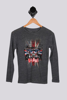London Boom Box L/S Burnout Tee (Big Kid)
