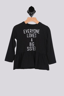 Everyone Loves A Big Sister L/S Peplum Tee (Little Girl)