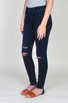 Icon Skinny Ankle Jean w/ Contrasting Black Rip Details
