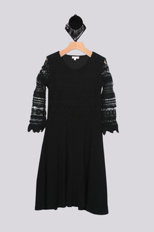 Curator Long Sleeve Crochet Lace Dress (Big Kid)