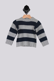 Striped Pullover Sweater (Infant/Toddler/Little)