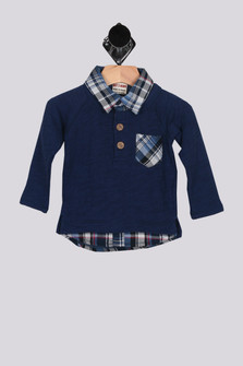 Built-In Layered Sweater Shirt (Infant/Toddler/Little)