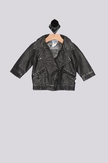 Faux Leather Moto Jacket (Infant)
