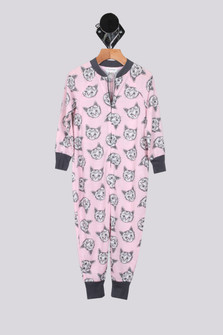 Meow Or Never Onesie Sleeper (Little Kid)
