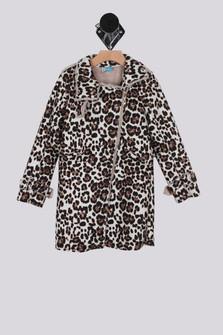 Faux Suede Leopard Coat (Little/Big Kid)