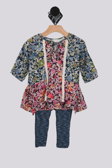 All Day Floral Dress w/ Leggings (Infant)