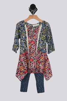 All Day Floral Dress w/ Leggings (Toddler)