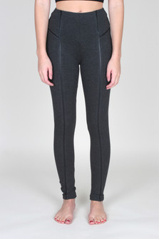 Vegan Leather Inset Legging
