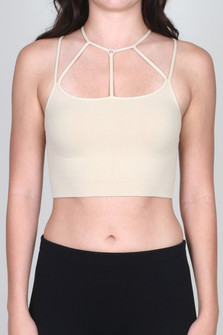 Multi Strap Halter Bra Top