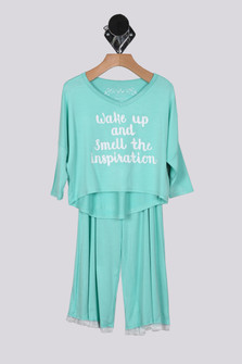 Inspiration Top & Ruffle Trim Pant Set (Big Kid)