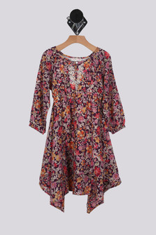 Nature Girl L/S Dress (Big Kid)