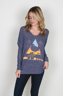Woodstock V-Neck Dolman L/S Top