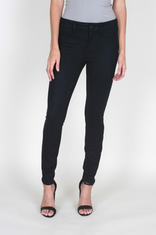 Janice Mid-Rise Ultra Skinny Suede Jegging