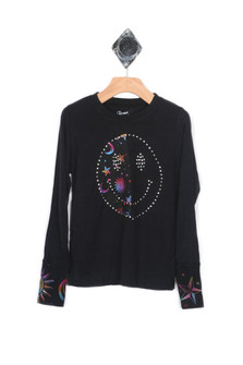 L/S Moon & Star Shirt w/ Thumbholes (Big Kid)