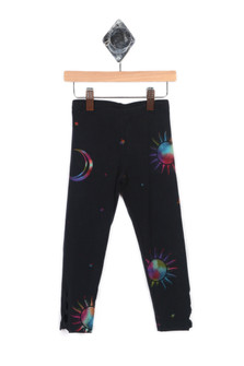 Moon & Star Legging w/ Cutout Ankle Detail (Little Kid)