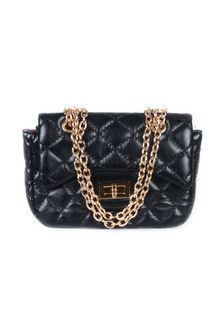 Quilted Cross-body Bag w/ Chain Strap