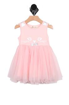 Cat Face Lace Dress (Little Kid)