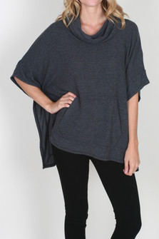 Cowl Neck Pullover w/ Pocket