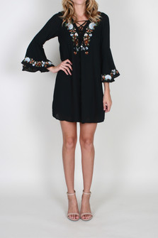 Dina Bell Sleeve Mini Dress