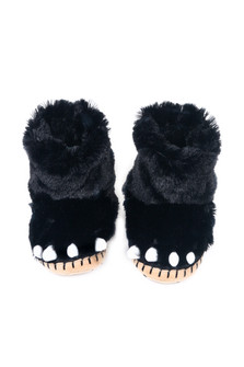 Black Bear Paws Slippers (Toddler/Little/Big Kid)