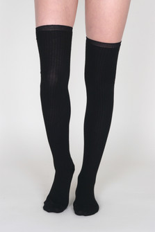 Sable Lurex Over The Knee Sock