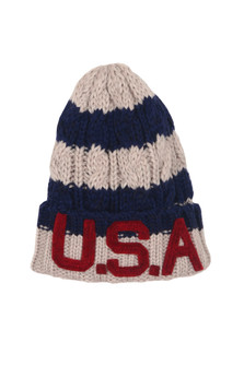 USA Knitted Striped Beanie (Toddler/Little Kid)