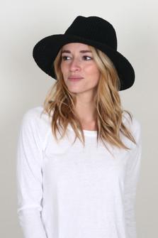 Knit Wide Brim Hat