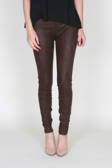 Buffed Faux Suede High Rise Legging