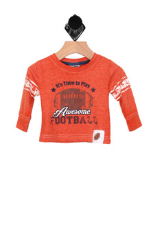 Awesome L/S Football Tee (Infant/Toddler)