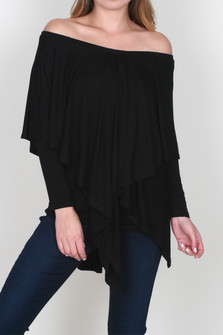 Calleginia Off the Shoulder L/S Top