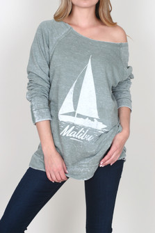 Raw Edge Burnout Malibu Sweater