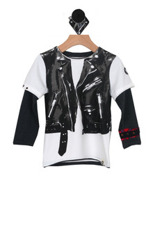 L/S Mock Moto Vest Tee (Toddler/Little/Big Kid)