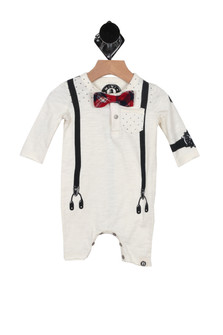 L/S Onesie w/ Attached Bow Tie (Infant)
