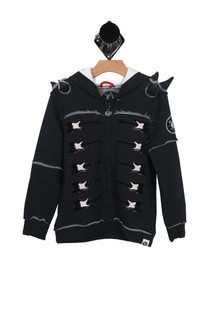 Spiked Electric Guitar Zip-Up Hoodie (Little/Big Kid)