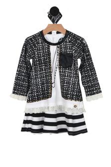 L/S Dress w/ Mock Jacket (Toddler/Little/Big Kid)