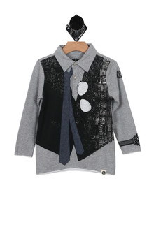 L/S Polo with Mock Tie & Vest (Little/Big Kid)